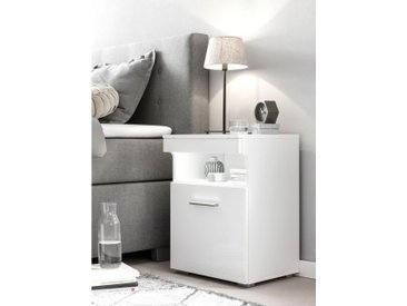 Nachttisch , 45x39x61 cm, weiß »Besi«, Yourhome, Hochglanz, mit Beleuchtung