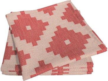 Stoffserviette, 30x30 cm, rot, Material Bio-Baumwolle »Maroccan Shiraz Light«, Adam