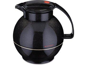 Isolier-Kanne , schwarz, Inhalt 1 l, »360«, ROTPUNKT