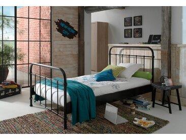 Metall-Bett, 120x200 cm, schwarz, Material Metall, Vipack