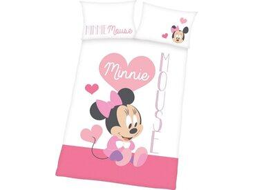 Kinderbettwäsche , 1x 40x60 cm, weiß, Material Baumwolle »Minnie Mouse«, Disney, bedruckt, Motiv