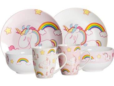 Kindergeschirr-Set »Unicorn«, mehrfarbig, Material Porzellan, Ritzenhoff & Breker, Motiv, spülmaschinengeeignet