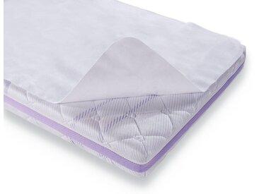Matratzen Auflage , , 0,5 cm hoch, Baumwolle, wasserdicht, weiß, Material Baumwolle »Moltonauflage«, Träumeland, strapazierfähig