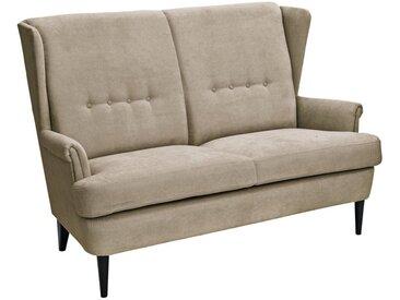 Küchensofa mit extrahoher Sitzfläche, 2-Sitzer, FSC®-zertifiziert, weiß, Material Stoff / Holz, heine home