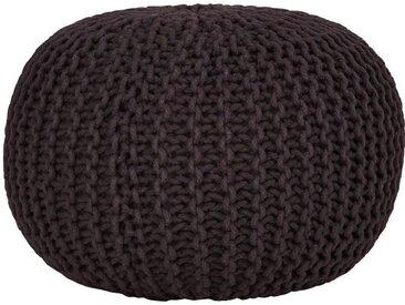 Pouf, schwarz, Material Baumwolle, Gutmann Factory