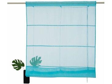 my home Bändchenrollo  »Xana«, H/B: 155/45 cm, grün, Material Stoff / Voile