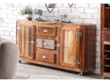 Sideboard, 150x40x90 cm, FSC®-zertifiziert, braun, Material Holz / Massivholz »Fridge«, SIT-Möbel