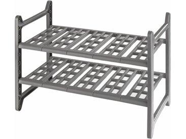 Ablageregal , 82x28x39 cm, grau, Material Aluminium / Kunststoff »Flexi«, WENKO