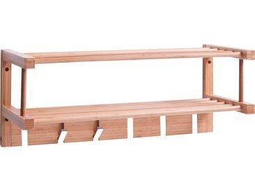 Hakenleiste , beige, Material Bambus / Aluminium, Zeller Present
