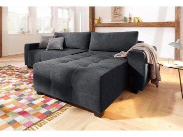 Home affaire  Eck-Couch , mit Bettfunktion, Landhaus-Stil, grau »Bella«, mit Schlaffunktion