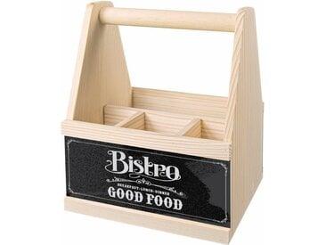 Besteckträger »Bistro Good Food«, 14.5x23.5 cm (BxH), Contento, Material Holz