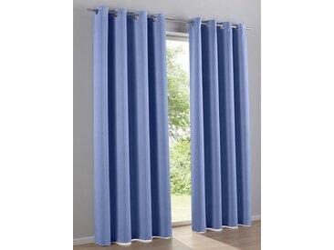 Deko-Schal, ca. 145/135 cm, blau, heine home, Unifarben