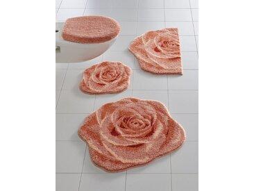 Badezimmer-Garnitur in besonderer Form, rosa, Material Polyacryl, Grund