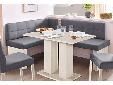Eckbank »Anna 2«, 130x83x169 cm (BxHxT), SCHÖSSWENDER, weiß, Material Holzwerkstoff, Kunstleder, Spanplatte