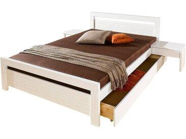 Home affaire Massivholzbett, weiß, Material Massivholz »Capri«