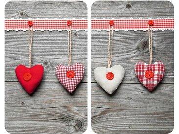 Herdabdeckplatte , mehrfarbig »Herzen«, WENKO