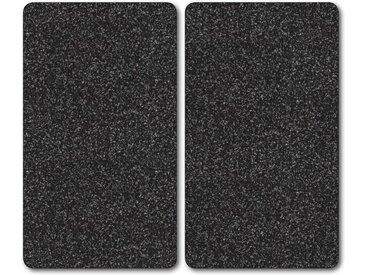 Herdblende-/Abdeck-Platte  »Granit«, schwarz, Bischof