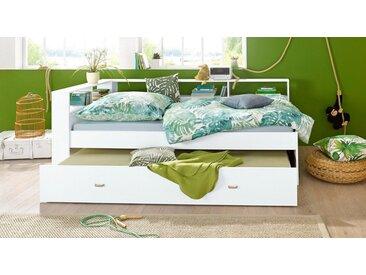 Funktions-Bett, 90x200 cm, FSC®-zertifiziert, weiß, Yourhome, Pflegeleichte Oberfläche