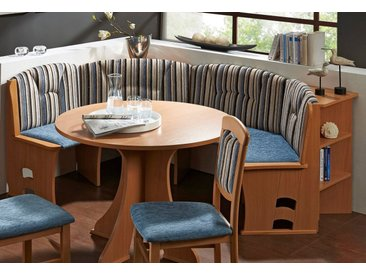 SCHÖSSWENDER  Rund-Bank, FSC®-zertifiziert, blau, Material Massivholz