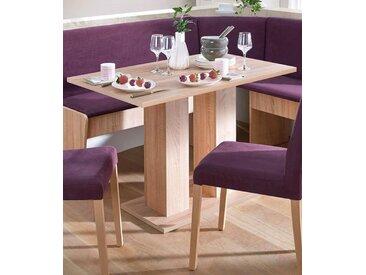 Säulen-Esstisch, 110x75x68 cm (BxHxT), FSC®-zertifiziert, Yourhome, braun, Material Holzwerkstoff