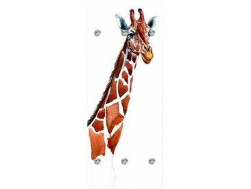 Garderobenpaneel, B/H: 50/125 cm, braun, Material Acrylglas / Edelstahl »Giraffe«, Yourhome, Motiv