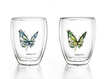 Gläser-Set »Schmetterling«, Material Borosilikatglas, Creano, Motiv