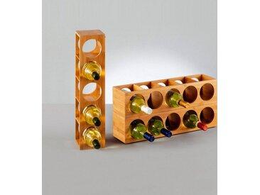 Weinregal, 13,5x12,5x53 cm, beige, Material Bambus »Bamboo«, Zeller Present