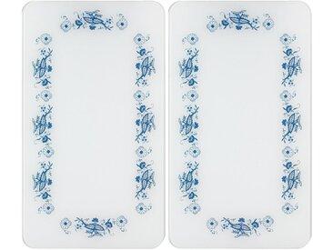 Herd-Abdeckplatte »Universal Blaue Rankblüten«, weiß, WENKO