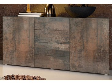 Places of Style Sideboard, 139x35x72 cm, braun, Push to open-Funktion