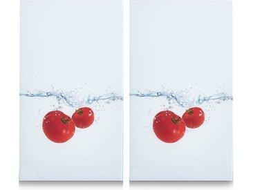Abdeckplatte, weiß »Tomato Splash«, Zeller Present