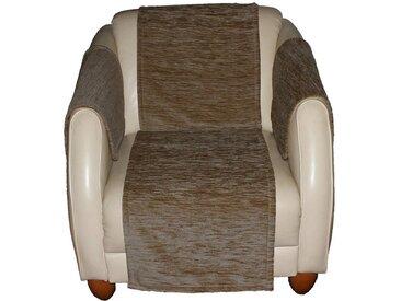 Wirth Sofaüberwurf , braun, Material Stoff / Thermo-Chenille »Miriam«, Meliert, strapazierfähig