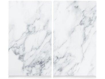 Schneide- und Abdeckplatte »Marmor«, weiß, Zeller Present
