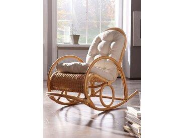 Home affaire  Schaukel-Stuhl  »492268«, Landhaus-Stil, beige, Material Rattan, 43 cm, 45 cm
