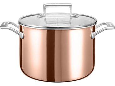 Suppentopf, braun, kupfer-edelstahlfarben, Ø 24cm, KitchenAid