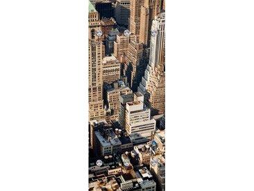 Garderobenpaneel, B/H: 50/125 cm, beige, Material Acrylglas / Edelstahl »Großstadt von oben«, Yourhome, Motiv