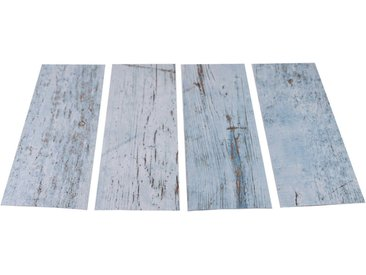 Duscheinlage »Klebefliese stepon Wood Light Blue«, 30x10x0 cm (BxLxH), 4er Set, MySpotti, Material Vinyl
