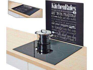 Herdblende-/Abdeck-Platte  »Kitchen Rules«, schwarz, Zeller Present