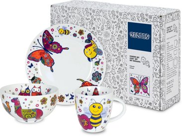 Kindergeschirr-Set »Colourful Animals«, mehrfarbig, Material Porzellan, Könitz, Motiv, spülmaschinengeeignet