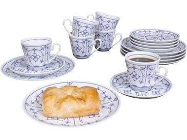 Kaffeeservice »Winterling - Indischblau«, weiß, Material Porzellan, Eschenbach, gemustert, spülmaschinenfest