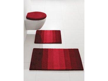 Badezimmer-Garnitur, rot, Material Polyacryl, Kleine Wolke