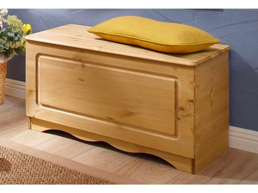 Home affaire Sitztruhe »Emden«, FSC®-zertifiziert, beige, Material Massivholz