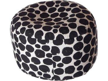 Home affaire Pouf »Punkte«, B/T/H: 47x47x34 cm, schwarz, Material Baumwolle