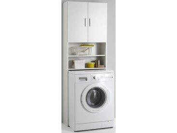 Waschmaschinenüberbau  mit 2 offenen Fächern »Olbia«, weiß, FMD