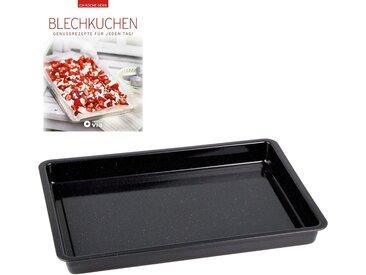Backblech, 42 x 29 x 4 cm, schwarz, ChG