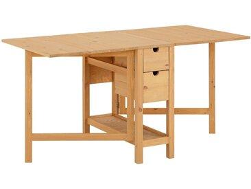 Home affaire  Klapp-Tisch , FSC®-zertifiziert, beige, Material Massivholz »Lily«