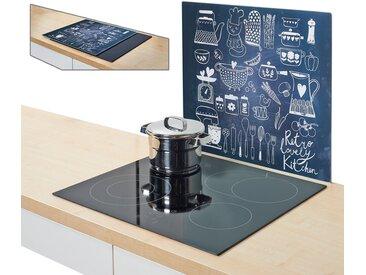 Herdblende-/Abdeck-Platte , schwarz, »Lovely Kitchen«, Zeller Present
