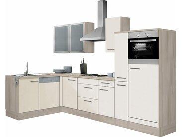 Winkelküche, beige, Material Metall »Kalmar«, OPTIFIT»Kalmar«