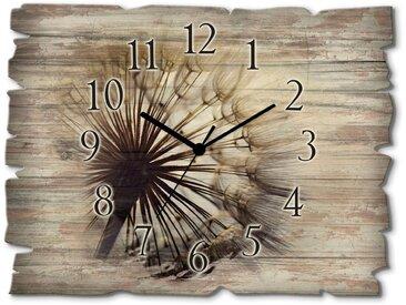 Wand-Uhr , blau, Material Holz »Große Pusteblume«, Artland