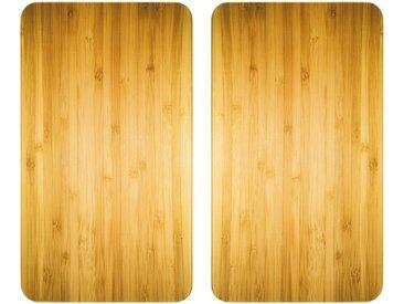 Herdabdeckplatte , beige »Universal Holz-Optik«, WENKO