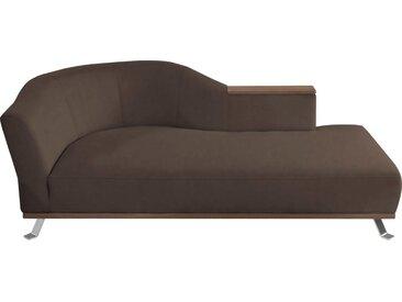 Chaiselongue  »Tivoli«, Récamiere rechts oder links, braun, ADA premium